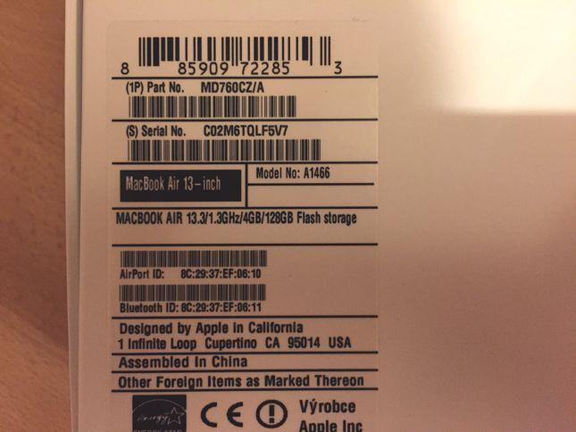 Foto 2 - MACBOOK AIR model MD760CZ/A