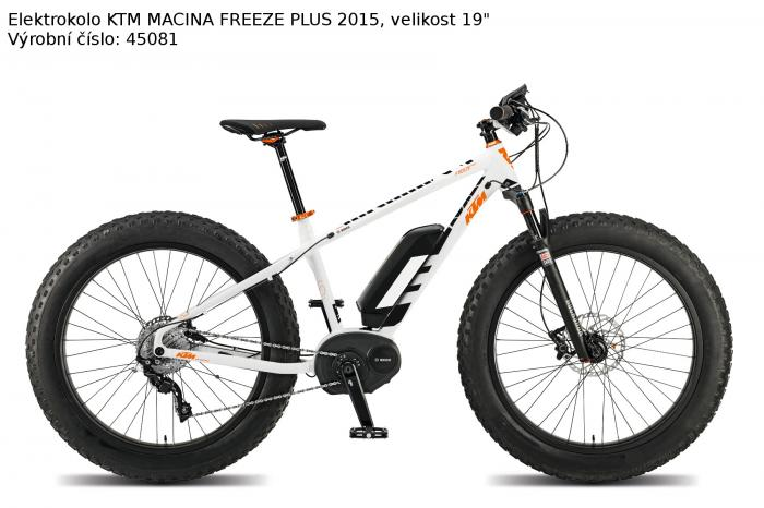 Foto 1 - Elektrokolo KTM MACINA FREEZE PLUS 2015